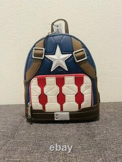 2021 Disney Loungefly Marvel Avengers Endgame Mini Backpack Captain America
