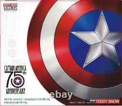 75th Avengers Captain America Shield Aluminum Metal Shield Movie Cosplay