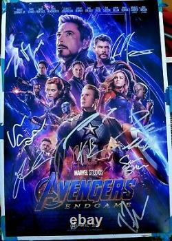 AVENGERS ENDGAME Cast (x13) Hand-Signed Chris Hemsworth 12x18 Photo