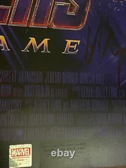 AVENGERS ENDGAME Movie Poster CAST SIGNED Premiere Autograph Chris Evans Ironman