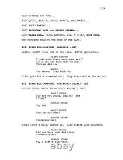AVENGERS ENDGAME very rare movie screenplay