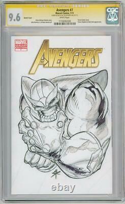 Avengers #7 Cgc 9.6 Signature Series Signed Kurth Thanos Sketch Oa Endgame Movie