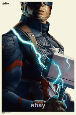 Avengers ENDGAME Captain America MONDO Print Poster Phantom City Creative PCC