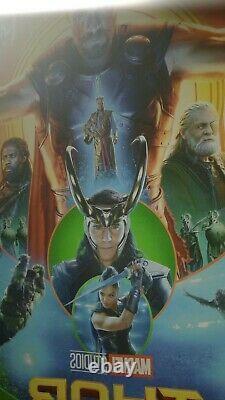 Avengers ENDGAME THOR RAGNAROK 27x40 DS Original Movie Poster SET MARVEL MJOLNIR