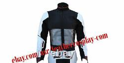 Avengers End Game Avengers Quantum Realm White leather Jacket