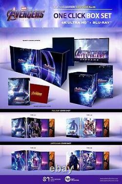 Avengers Endgame 4K UHD + Blu-ray Steelbook One Click Box Set / dented edge