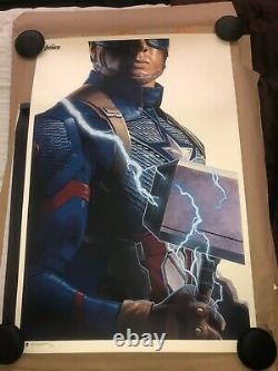 Avengers Endgame Captain America Mondo Poster Phantom City Creative 169/300