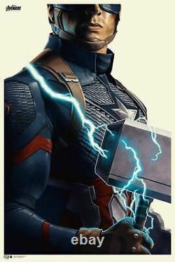 Avengers Endgame Captain America Poster Print Phantom City Creative Mondo