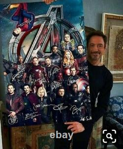 Avengers Endgame Characters Signatures Poster 24×36 no poster frame include