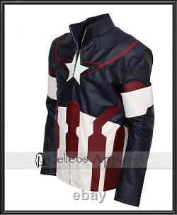 Avengers Endgame Chris Evans Captain America Cosplay Superhero Leather Jacket
