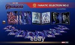 Avengers Endgame Fanatic Steelbook Blu-ray 4K ONE-CLICK Lenticulars not Blufans