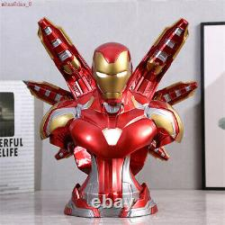 Avengers Endgame Iron Man MK85 Bust Figure LED Light Resin Model Toy Gift 35cm