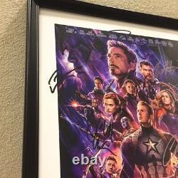 Avengers Endgame Movie Poster Autogramm Bild Hemsworth Scarlett Evans Downey