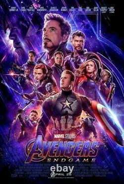 Avengers Endgame Promo + Marvel Iron Man 2 New Vintage Film Crew Hat Black Widow