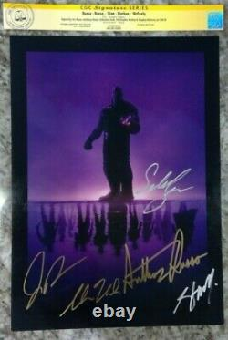 Avengers Endgame SDCC 2019 Promo Print signed by Russo Brothers and 3 others