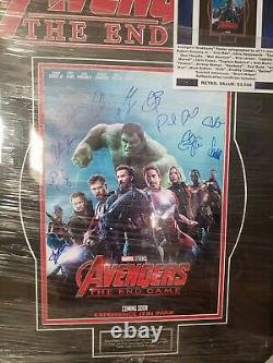 Avengers Endgame Signed Poster. 11 signatures