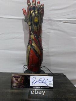 Avengers Endgame Signed Robert Downey Jr Iron Man Gauntlet Taurus EFX Beckett