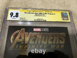 Avengers Infinity War 1 CGC SS 9.8 Jim Starlin Auto Thanos Endgame 2019 Movie