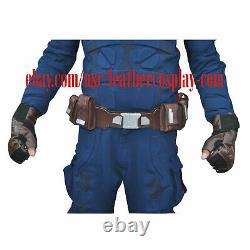 Captain America Stealth Strike Costume Suit with Accessories Textured Fabric
