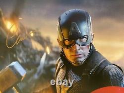 Chris Evans Captain America Signed 16x20 Photo Avengers Endgame JSA Witness