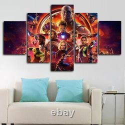Framed Marvel Avengers Endgame Movie Poster 5 Piece Canvas Print Wall Art Decor