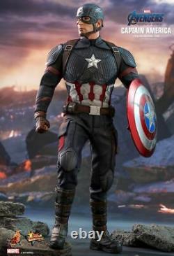 Hot Toys 1/6 MMS536 Avengers Endgame Captain America Statue Movie Model New