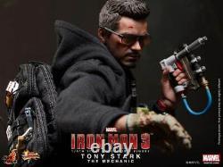 Hot Toys Mms209 Iron Man 3 Tony Stark The Mechanic 1/6 Action Figure New