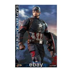 Hot Toys Movie Masterpiece Endgame Captain America Action Figure NEW