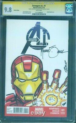 Iron Man 1 CGC SS 9.8 Mike Zeck Original art Sketch Avengers Endgame Movie