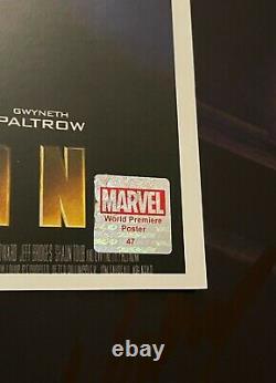 Iron Man Movie Poster CAST SIGNED Premiere Robert Downey Jr. Avengers Endgame