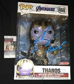 Josh Brolin signed Thanos funko pop Avengers End Game poster Target 460 giant
