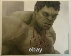 MARK RUFFALO HULK Avengers Autographed Hand Signed 8x10 photo withhologram COA