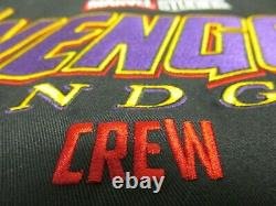 Marvel Avengers Endgame Iron Man Nano Gauntlet L-xl Film Crew Promo Jacket