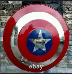 Marvel Captain America Steel Shield metal prop Replica cosplay Avengers Endgame