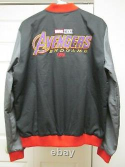 Marvel Studios Avengers Endgame L-xl Film Crew Jacket Free Infinity War Cast Hat