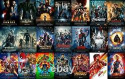 Marvel Universe 23 Movie Avengers Endgame Collection Blu-ray DVD Phase 1 2 3 New