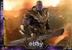 NEW Hot Toys Movie Masterpiece Avengers Endgame THANOS Battle Damage Version 1/6