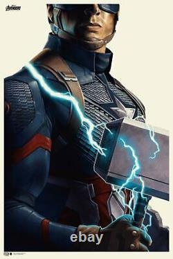Phantom City Creative Avengers Endgame Captain America Poster Print 24x36