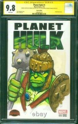 Planet Hulk 1 CGC 9.8 SS Original art Gladiator sketch Avengers Endgame movie