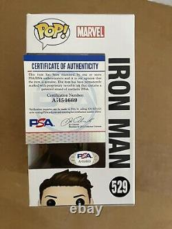 Robert Downey Jr. Signed Iron Man Funko Avengers Endgame Gauntlet PSA COA PROOF