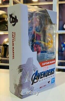S. H. Figuarts Marvel Captain Marvel (Avengers Endgame Movie) Action Figure Bandai
