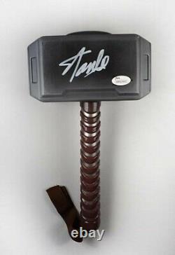 Stan Lee Avengers Thor Endgame Autographed Signed Ragnarok Battle Hammer JSA COA