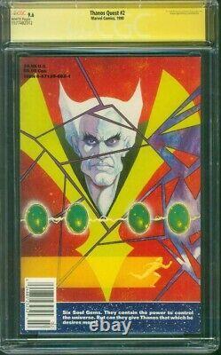 Thanos Quest 2 CGC 9.6 SS Jim Starlin Sign Thanos Avengers Endgame movie 1990