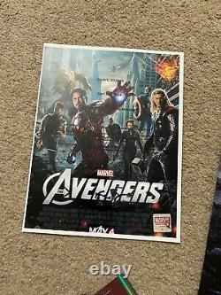 The Avengers Movie Poster CAST SIGNED Stan Lee Endgame Infinity War Marvel RARE