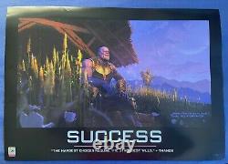 2018 Sdcc Marvel Mcu Conceptual Thanos Success Poster Avengers Endgame