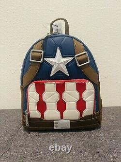 2021 Disney Loungefly Marvel Avengers Endgame Mini Sac À Dos Captain America