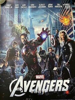 Affiche De Cinéma Avengers Cast Signed Stan Lee Endgame Infinity War Marvel Rare