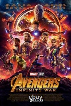 Affiche De Cinéma Finale Ds 27x40 D'origine Avengers 2-pack Endgame Infinity War Thanos