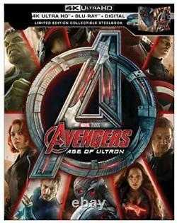 Avengers 1,2,3,4 Endgame Infinity War+guardians Galaxy+cap Marvel 6 4k Steelbook