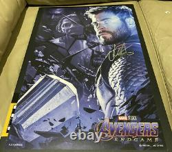 Avengers Endgame 13x19 Affiche Numérotée Signée Par Chris Hemsworth (thor)